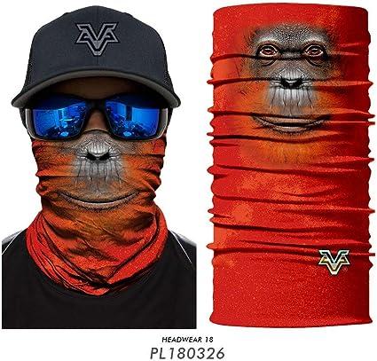 Legoto Face Protection Funny Mouth Protection Fashion Face Bandanas 3D Dog Print Unisex Bandana,Washable Reusable for Women and Men 1Pcs New A