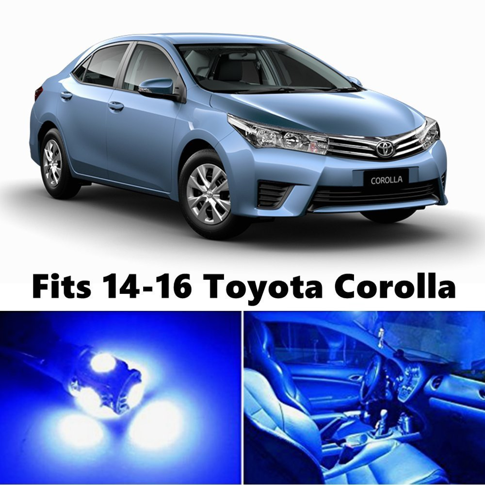 toyota corolla 2015 blue. amazoncom 8 x premium xenon white led lights interior package kit for 20142016 toyota corolla automotive 2015 blue