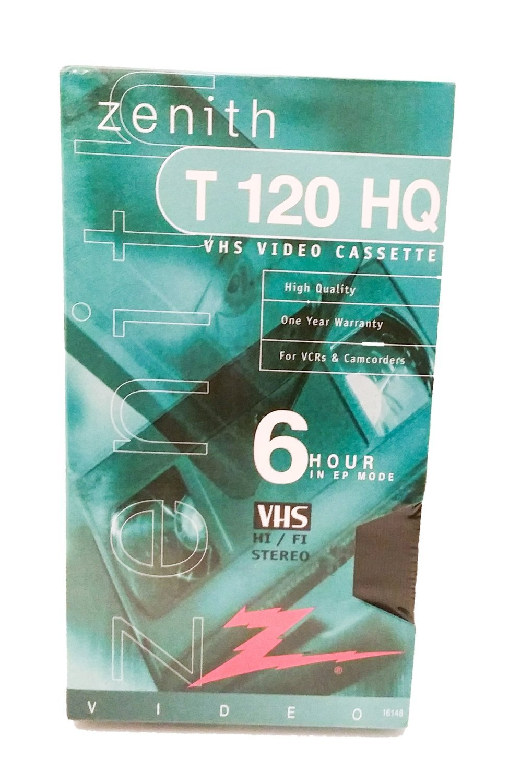 Zenith T120 HQ Blank VHS Video Cassette Set of 4