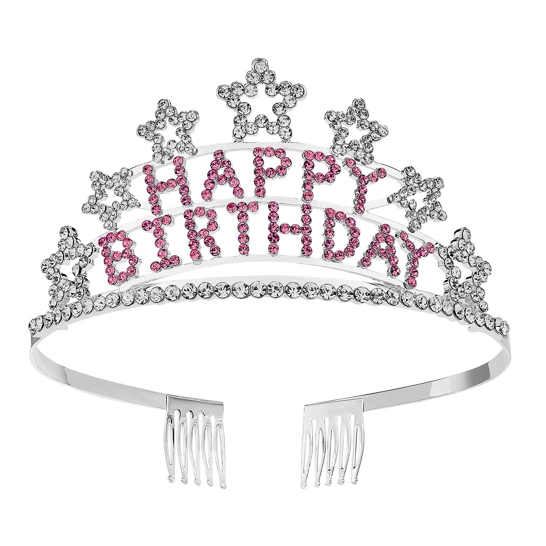 Fashion Girl Tiara Crown Rhinestone Princess Crown Headwear Hair Hoops Plastic