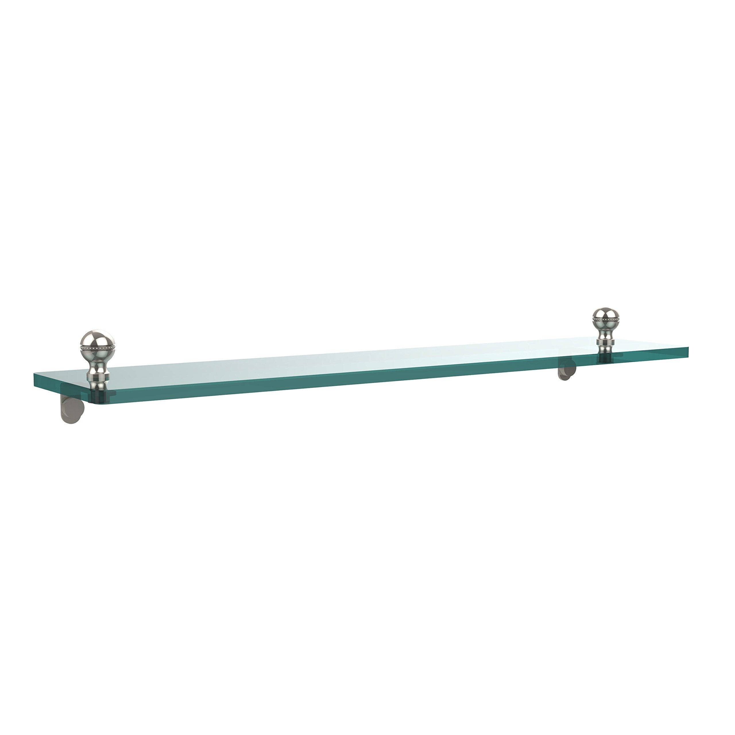 Allied Brass MA-1/22-PNI 22 by 5-Inch Single Glass Shelf