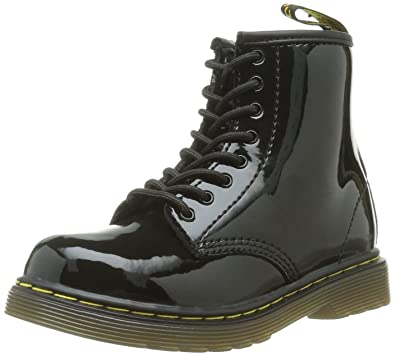 Dr Martens Brooklee Black Patent Toddler Leather Shoes Boots-6 xqiCHjMgH