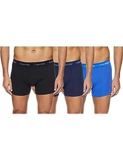 Calvin Klein Hombre - Pack de 3 bóxers de tiro medio - Cotton Stretch: Amazon.es: Ropa y accesorios