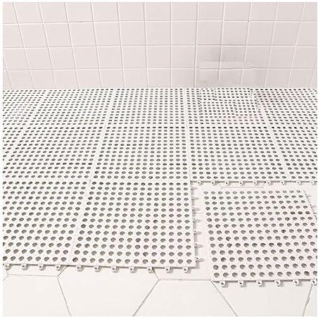 GHHZZQ - Alfombrilla Antideslizante para mampara de Ducha, para Masaje, Piscina, balcón, baño, Color Blanco, 30 x 30 cm, 1 cm de Grosor, 4 Unidades: Amazon.es: Hogar