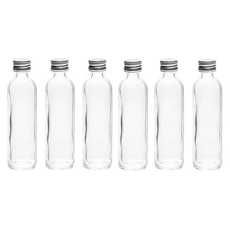 12 piezas de 120 ml Botellas de deseo de vidrio transparente ...