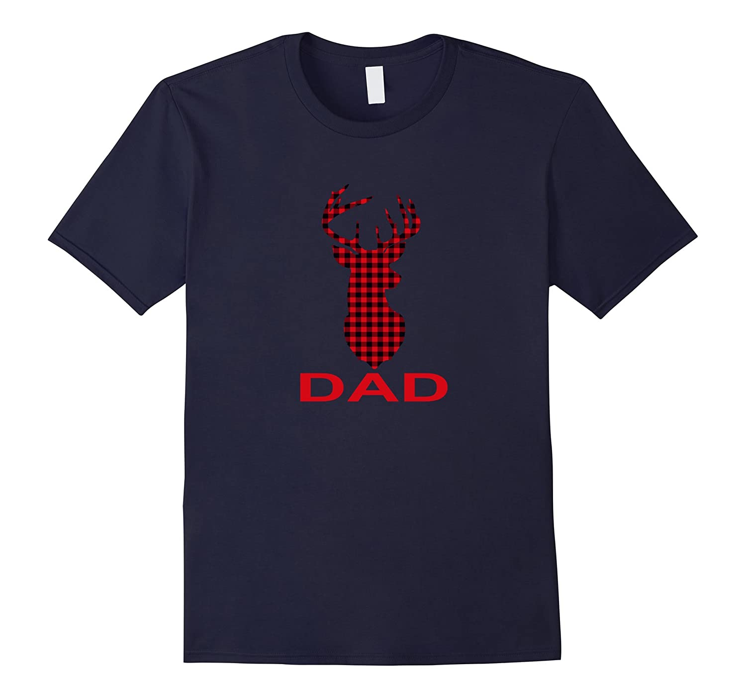 Dad Deer T-Shirt Cute Reindeer Gift Christmas Family-FL