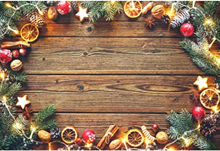 OFILA Christmas Pine Twigs Backdrop 12x10ft Rustic Wood Photography Background Christmas Party Decoration Pine Cones Photos Christmas Festival Celebration Video Background Digital Studio Props
