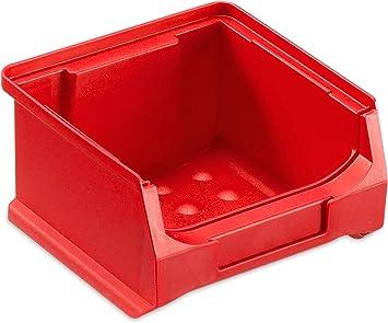 Visión Almacenamiento Caja 1.0, rojo, ABM. 100 X 100 X 60 Mm (txbxh) – Plástico Almacenamiento Cajas