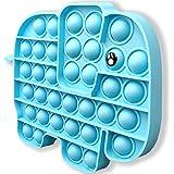 Push Pop Bubble Fidget Sensory Toy, Push Pop Fidget Toy for Kids, Silicone Stress Toys (Elephant)