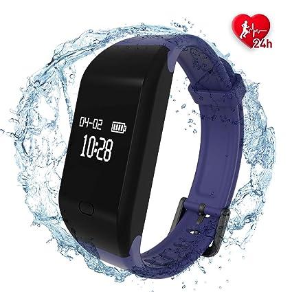 Fitpolo Pulsera de Actividad,Reloj Inteligente para Hombre y Mujer, IP68 Impermeable Reloj Deportivo con Rtmo Cardíaco, Sueño Monitor, Contador y ...