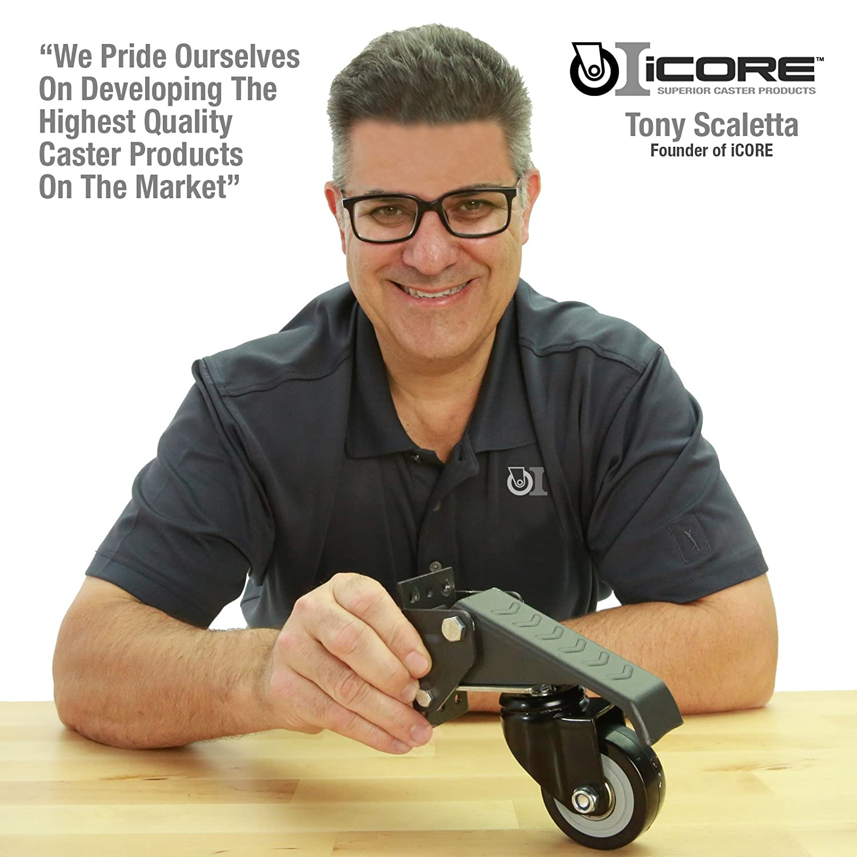 ... iCORE Premium Metal Workbench Caster Set NEW VERSION 4-Heavy-Duty 420 lb