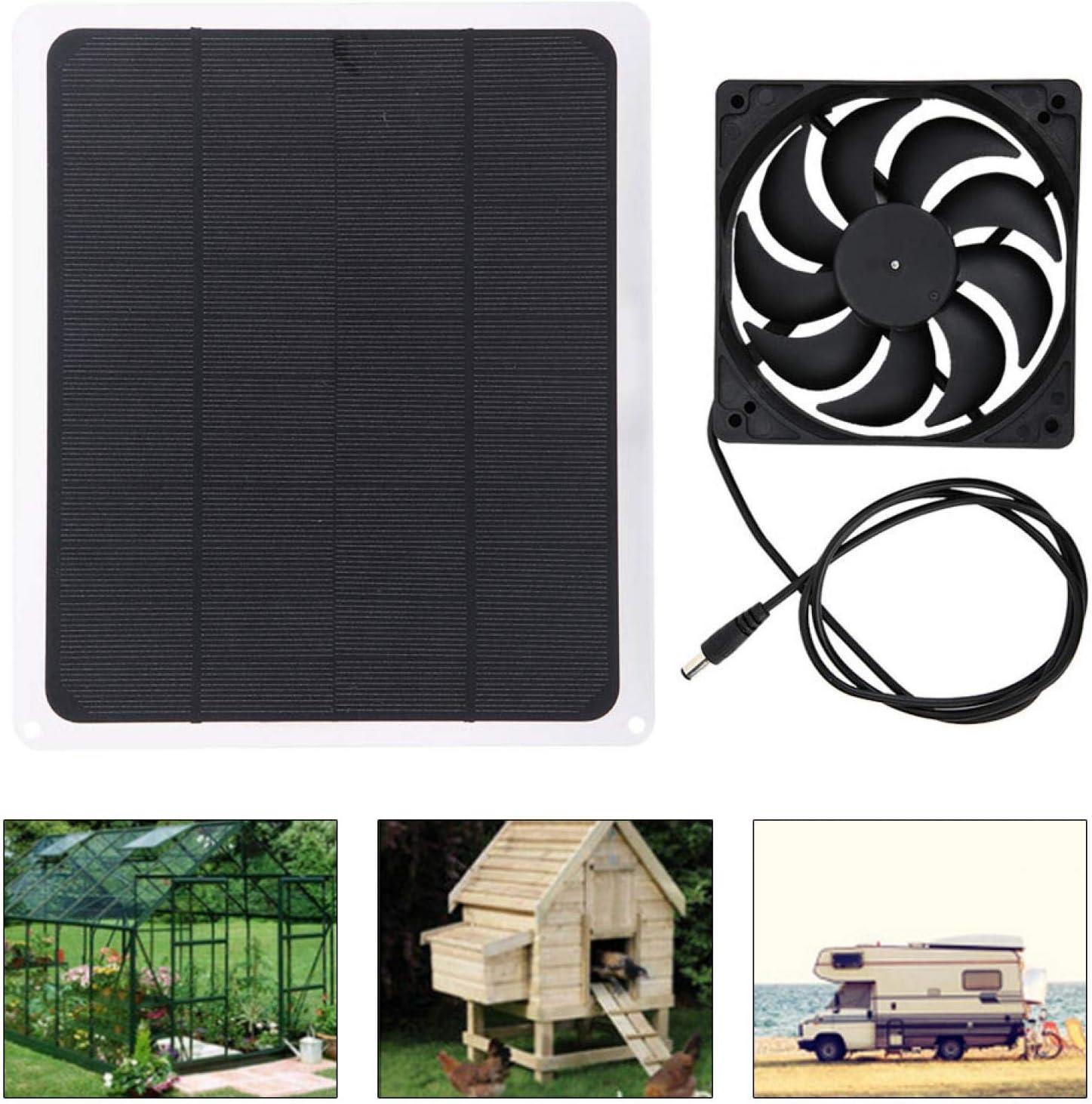 Solar Generation Board Multifunctional Durable Solar Panel Fan House for Greenhouse car Solar Panel Fan Set