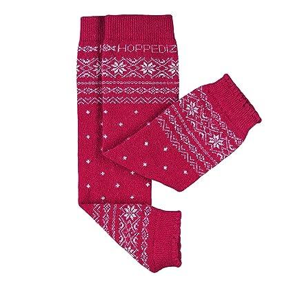 HOPPEDIZ/® Baby-Stulpen aus Kashmir//Merinowolle lila mit grauen und gr/ünen Streifen