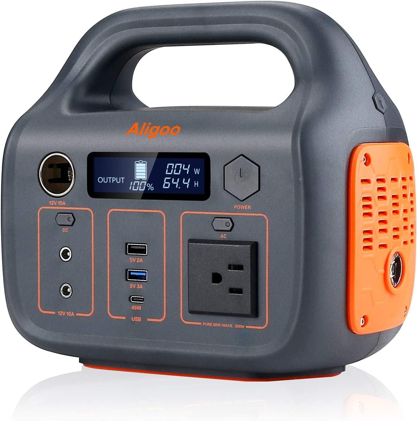 Portable Power Station,110v/300Watt Pure Sine Wave AC/DC Outlet,293Wh Backup Lithium Battery, Solar Generator (Solar Panel Optional) for Outdoors Camping Travel Hunting Emergency