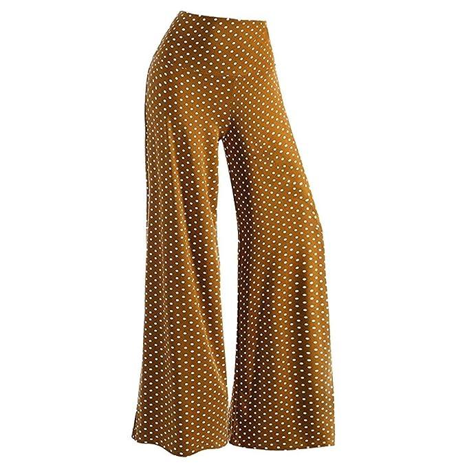 YULAND Haremshosen Frauen Damen Sommer Hosen Sommerhose Damen Hosen -  Women s Casual Point Stretchy Breites Bein 4ac475b37c