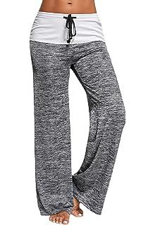 CROSS1946 Damen Yoga Lange Stretch Lagenlook Hose: