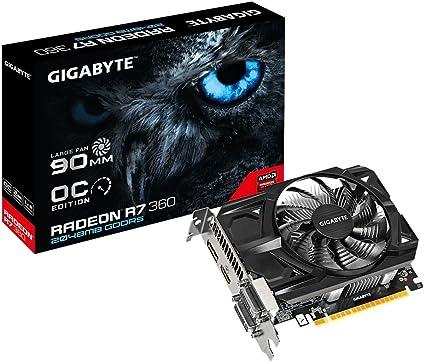 Amazon.com: Gigabyte AMD R7 360 128 bit 2 GB GDDR5 Tarjeta ...