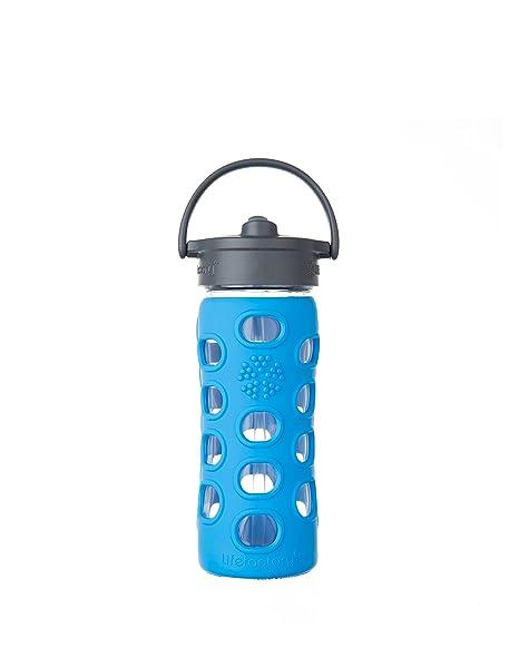 Botella de cristal Lifefactory, Straw Cap, vidrio, azul (ocean), 6.5