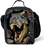 HUGSIDEA Cool 3D Animal Dinosaur Print Lunch Bags for Adults Kids Food Box