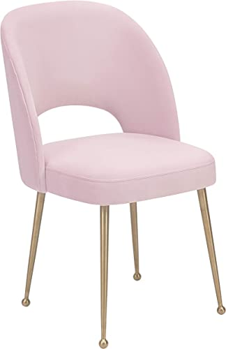 TOV Furniture Swell Modern Upholstered Dining Room Chair, Blush