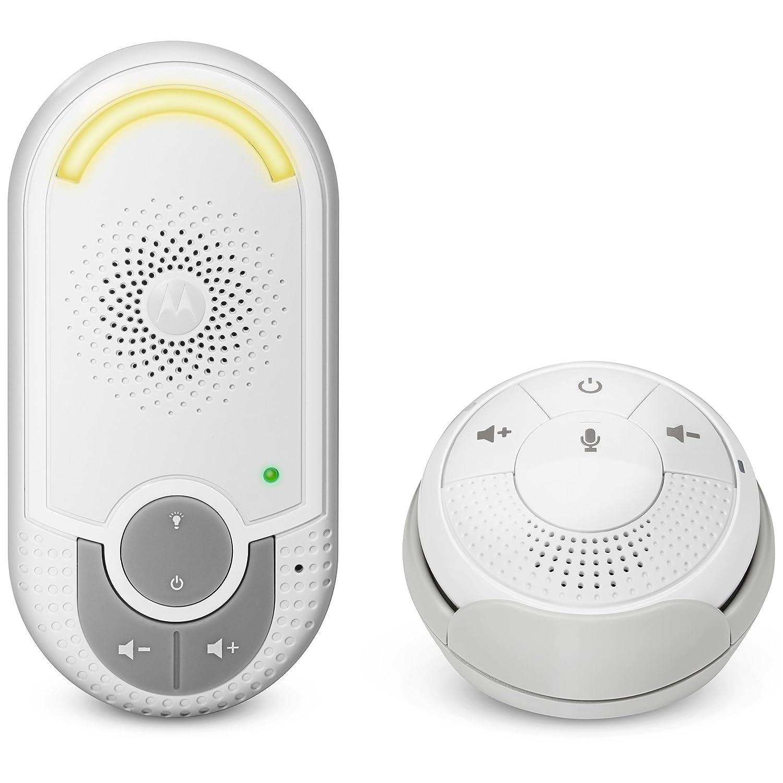 Motorola MBP 8 - Babyphone audio DECT avec prise murale plug 'n go - éco mode et veilleuse - couleur blanc Motorola Baby PNI-MBP8