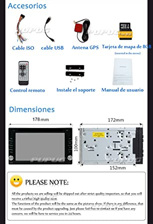Amazon.com: DVD Player Autoradio Multimedia Automotive Parts 3D GPS CD Auto Radio Electronics 2 Din in Dash MP3 Music Headunit Car Stereo in Deck Car Video ...