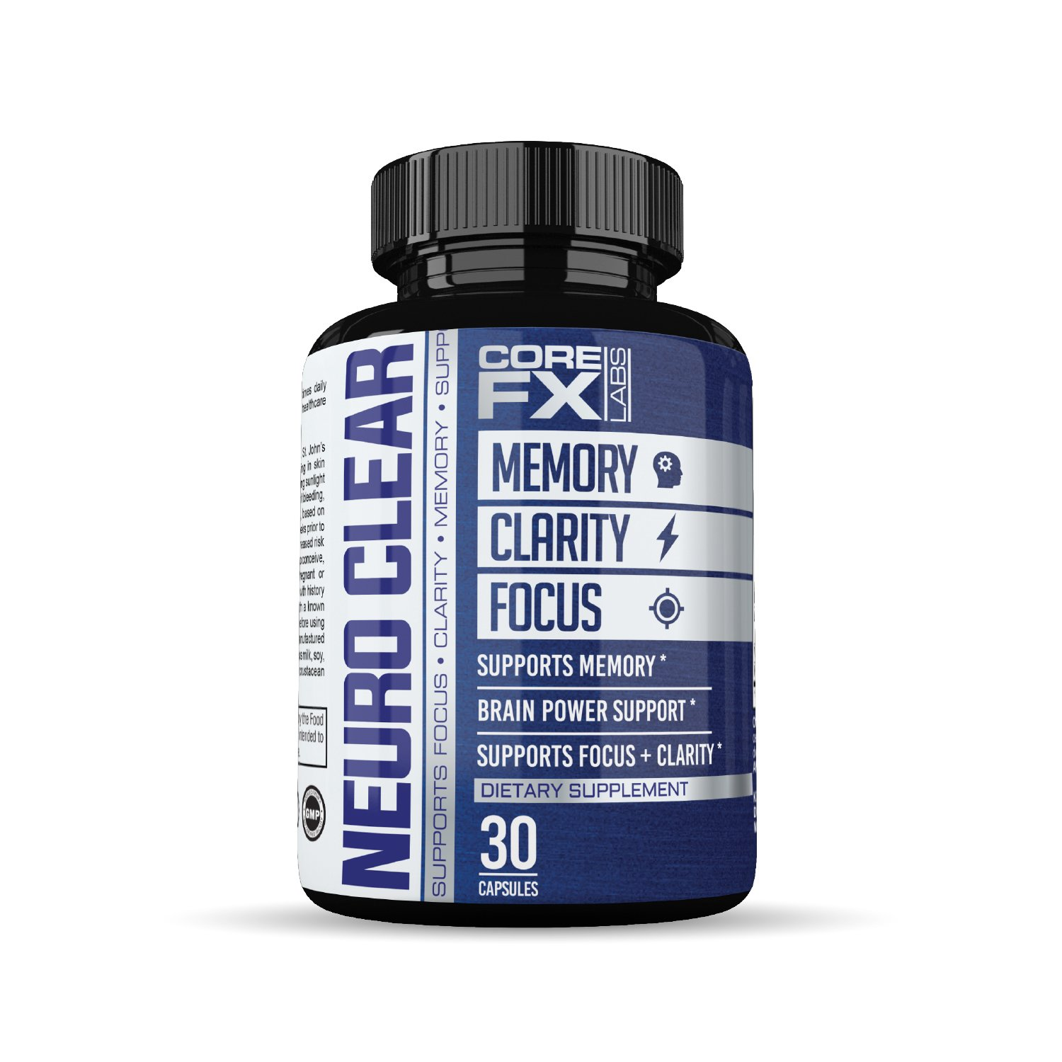 Brain Function Supplement by CoreFX Labs - Brain booster for Memory, Clarity and Focus - Mental Focus Nootropic - Brain Supplement with Ginko Biloba, St Johns Wort, Bacopa Monnieri & More