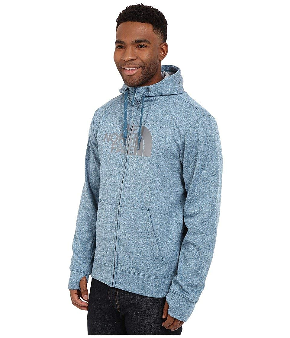 SM Blue Coral Heather//Mid Grey The North Face Mens Surgent Half Dome Full Zip Hoodie