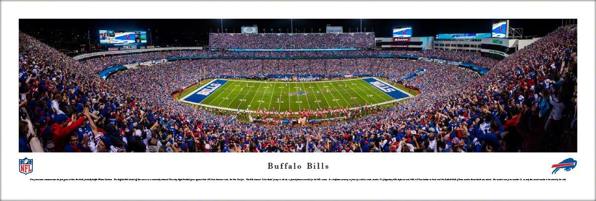 Buffalo Bills - 50 Yard - Night - Blakeway Panoramas Unframed NFL Posters by Blakeway Worldwide Panoramas, Inc.