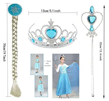 Buy Funny Teddy Cartoon Princess Dress Up Party Accessories Wig Braid Tiara Crown Wand Girls Fairy Costume Accessories Online At Low Prices In India Amazon In Cartoon beautiful princess icons set. buy funny teddy cartoon princess dress