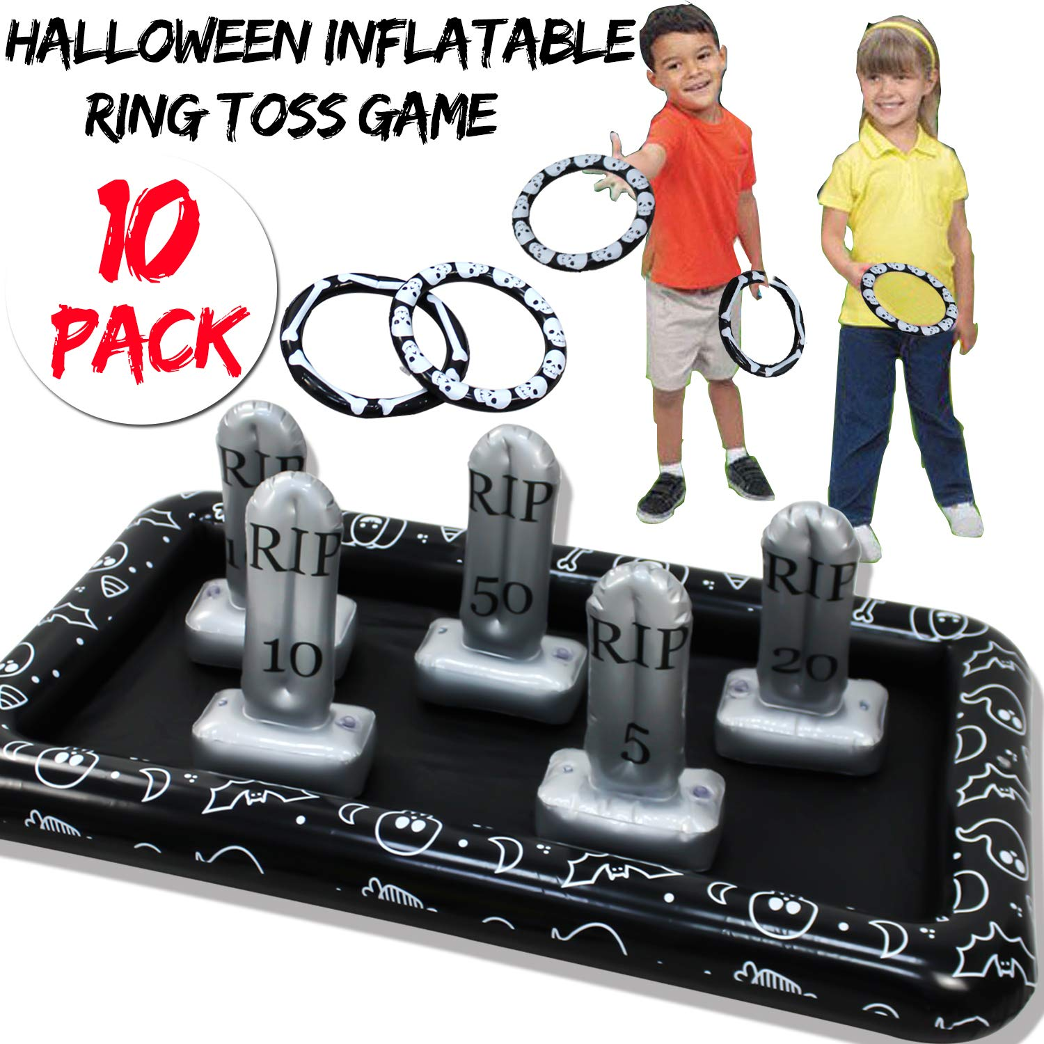 Carnival Halloween Party Ideas.Halloween Party Games For Kids Inflatable Spider Ring Toss Game Halloween Party Favors Games Supplies Outdoor Indoor Toys Creepy Spooky Game For Kids