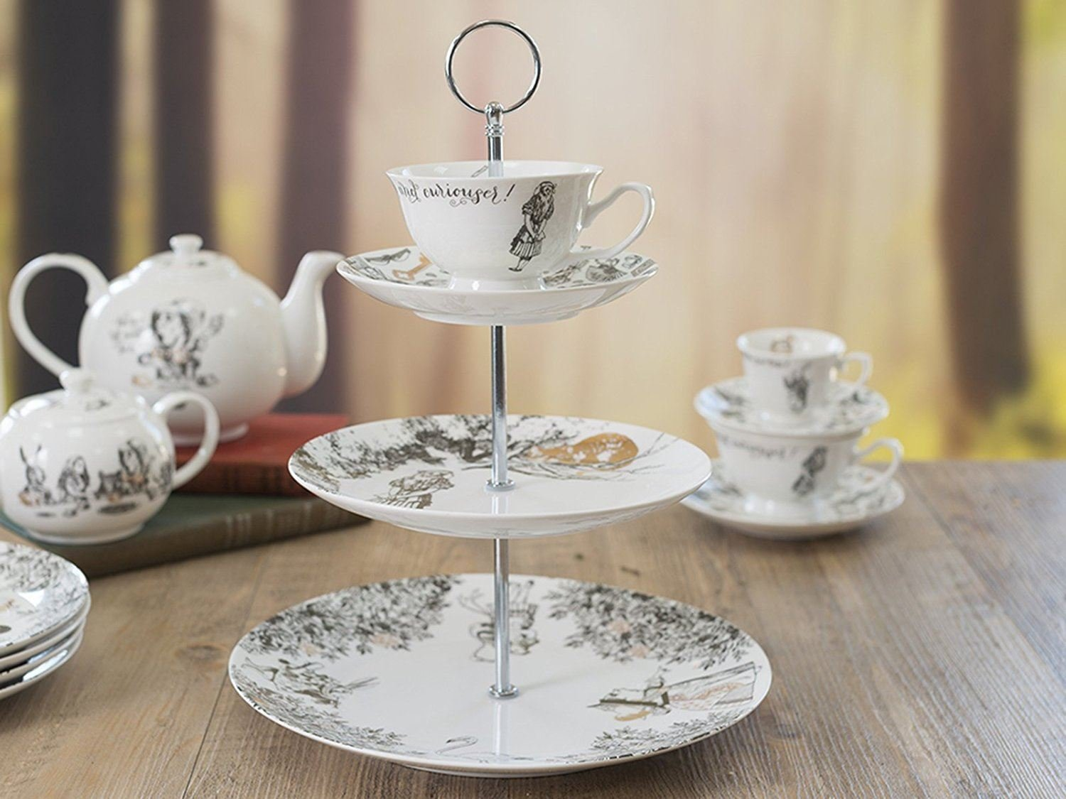 Creative Tops V&A Alice in Wonderland 3 Tier China Teacup Cake Stand Gift Boxed by CreativeTops (Image #4)