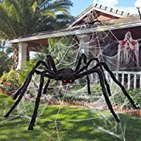 Halloween Giant Spider Decorations Fake Large Spider with Straps Hairy Spider Realistic Scary Prank Props for Indoor…