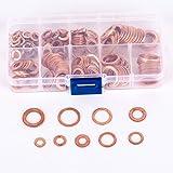 200 pcs Rondelle Cuivre Flat Ring Assortiment M5-M14 avec Boîte