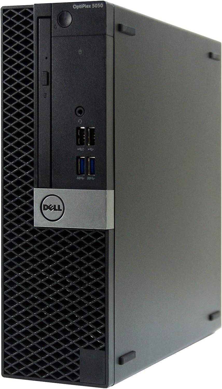 Dell OptiPlex 5050-SFF Intel Core i5-7500 3.4 GHz, 16GB RAM, 256GB M.2-NVMe, Windows 10 Pro 64bit, DVDRW (Renewed)