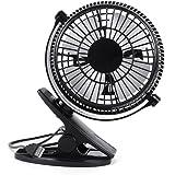 """Mini ventilatore USB con clip 5 """"portatile Mini ventilatore WEINAS® rotazione 360 ° 2 modalità regolabile ventilatore da tavolo per PC, ufficio, desktop - Nero"""