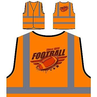 fútbol americano vintage Chaqueta de seguridad naranja ...