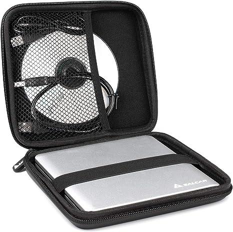 Salcar - Estuche Protector Universal Funda de Superficie Dura para Unidades de reproducción Interna y externas para Apple & DVD CD BLU Ray Grabador Externo HDD Disco Duro universales Quemar DVD: Amazon.es: