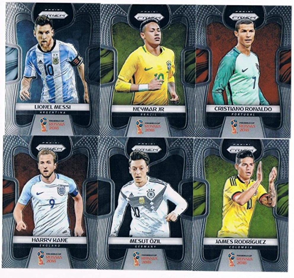 2018 Panini Prizm World Cup Russia /'18 Brazil Red Blue Wave Parallel #25 - #37