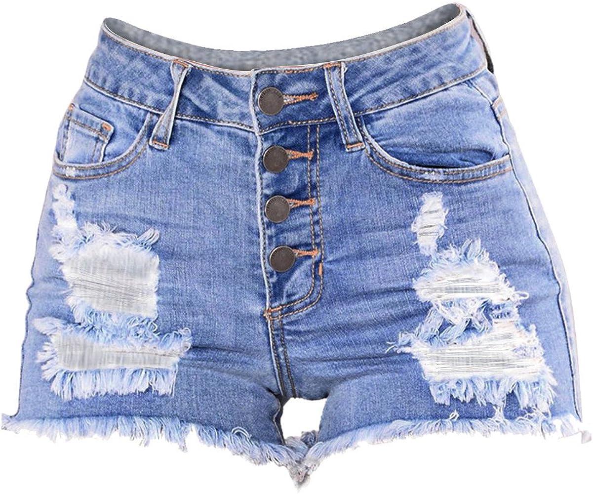 K-youth® Pantalón Corto para mujer Pantalones Cortos Mujer Rotos ...