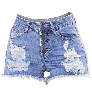 K-youth® Pantalón Corto para mujer Pantalones Cortos Mujer ...