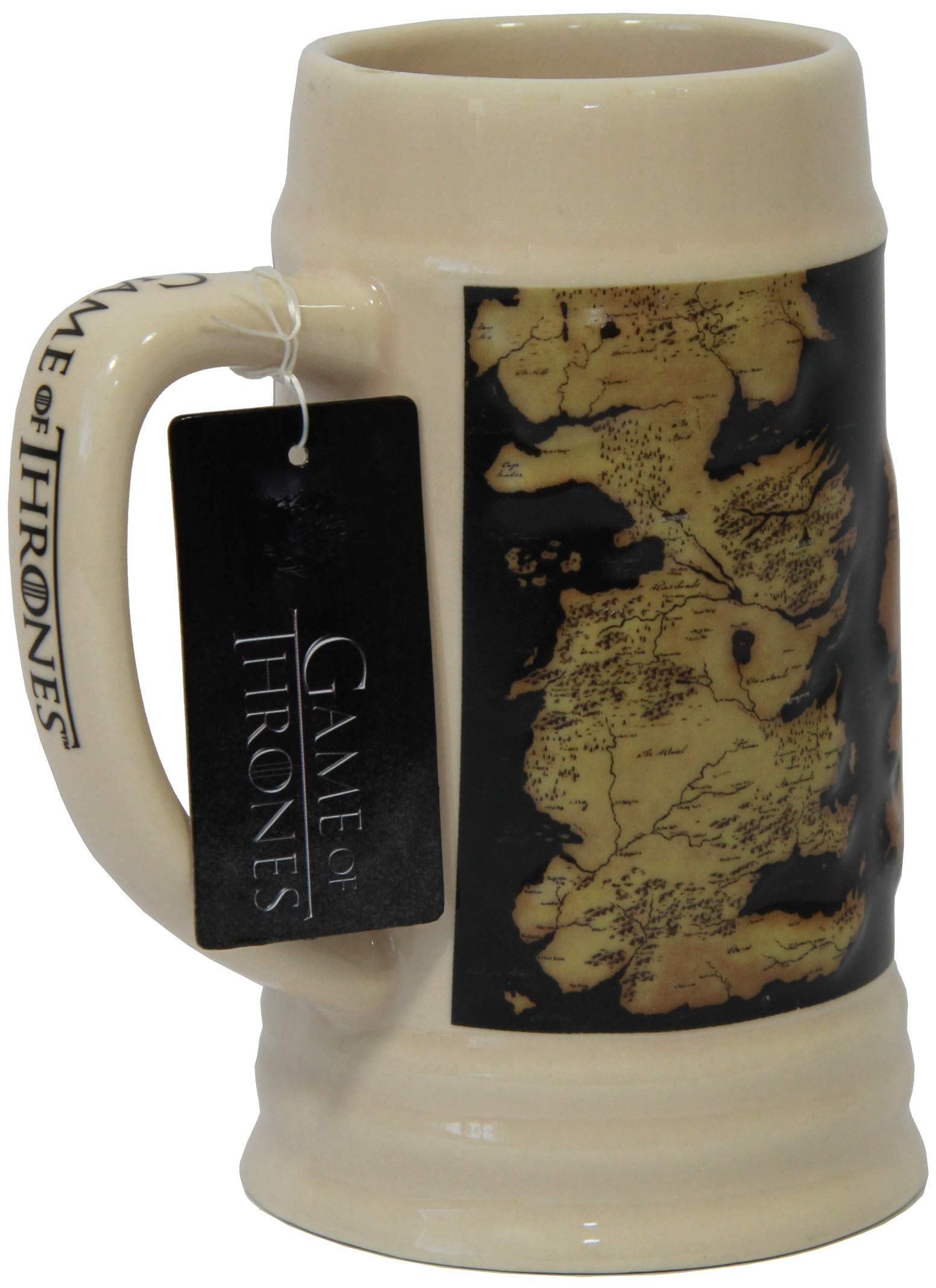 Game of Thrones 24 oz Westeros Map Beer Stein - Detailed GoT Map Coffee Mug - Large Collectible Map Beer Mug - Novelty GoT Tankard