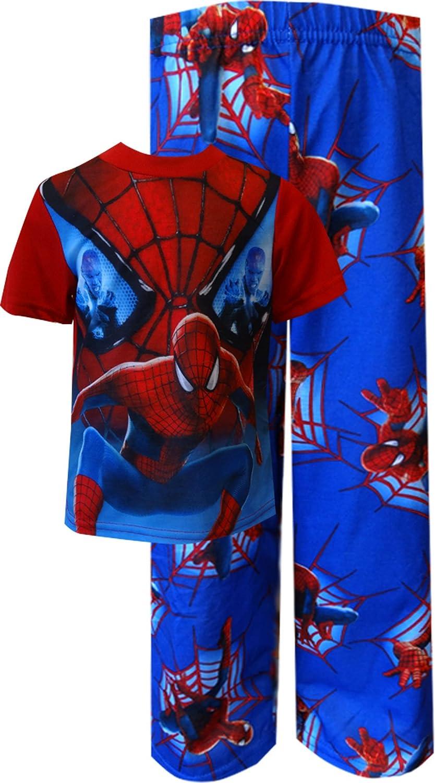 Spider-Man Big Boys' Eyes on Freeze 2-Piece Pajamas 8 S5057BSL8