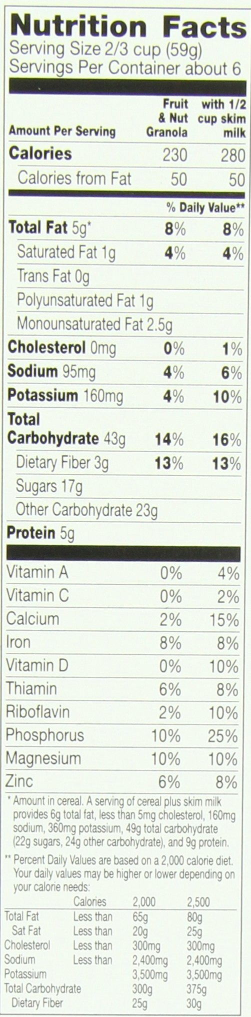 Cascadian Farm Organic Granola, Fruit and Nut Cereal, 13.5 oz (Pack of 6) by Cascadian Farm (Image #1)