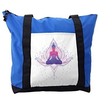 Amazon.com | Lunarable Gypsy Shoulder Bag, Woman on Yoga ...