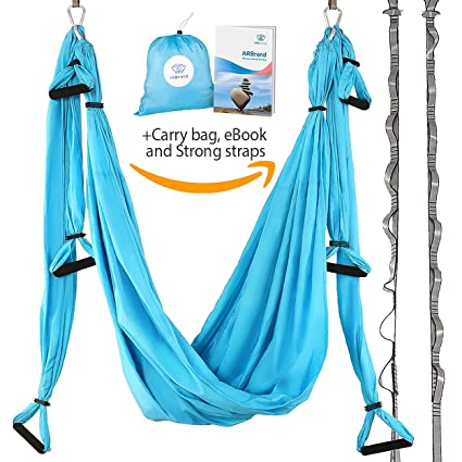 yoga swing  u2013 antigravity yoga hammock  u2013 aerial trapeze  u2013 sling  u2013 inversion tool for back amazon     yoga swing   antigravity yoga hammock   aerial      rh   amazon
