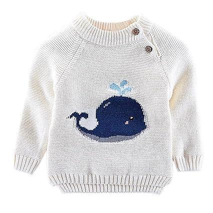 afcd8b74be988 子供服 Jopinica 赤ちゃん 漫画 クジラ プルオーバー 無地 可愛い 長袖 ニット セーター ベビー ラッシュガード