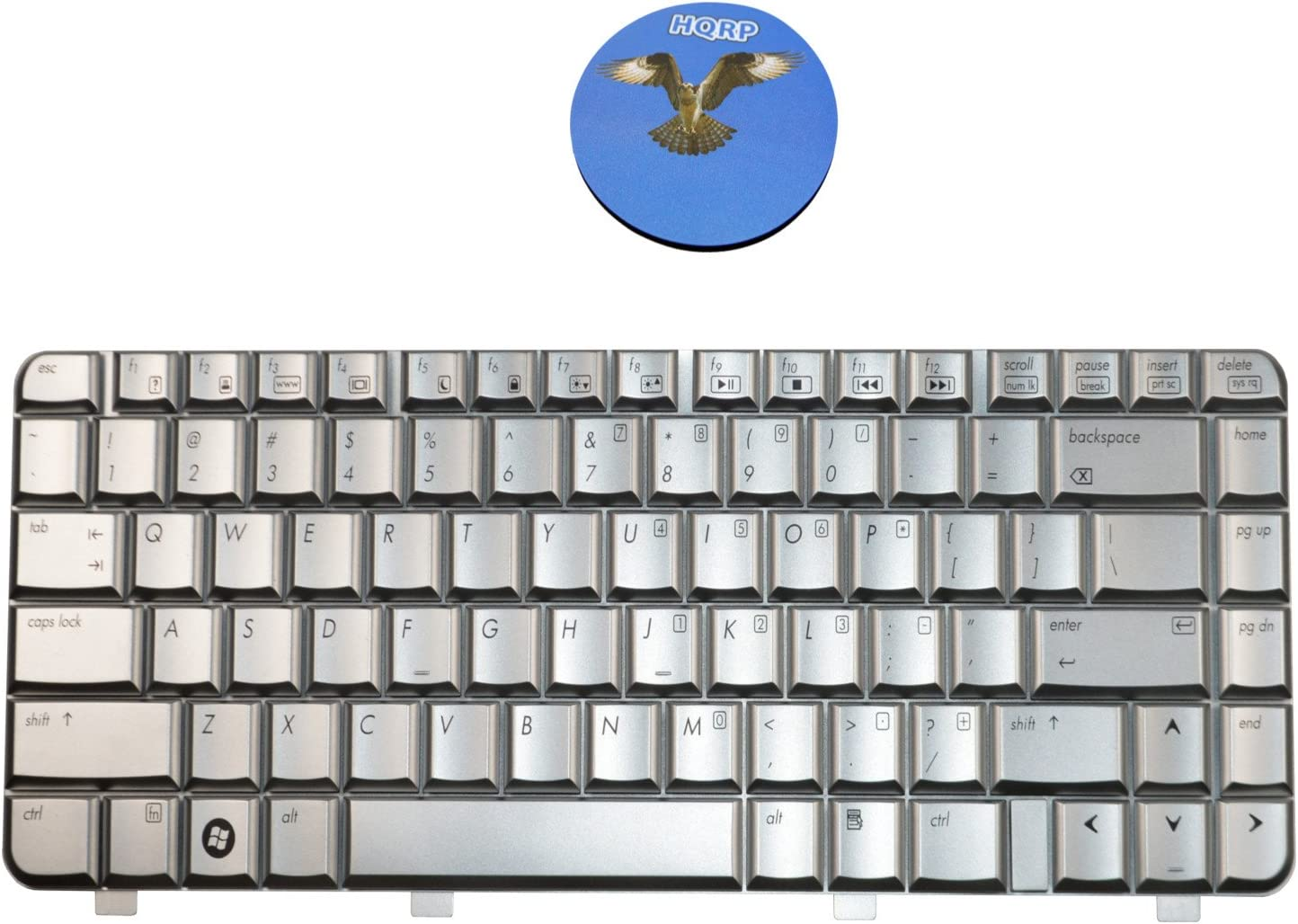 HQRP Keyboard for HP Pavilion DV4-1125NR / DV4-1135NR Laptop/Notebook Replacement Plus HQRP Coaster