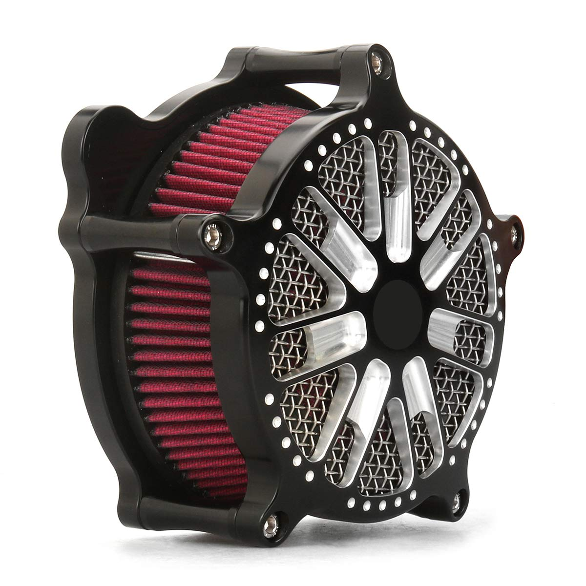 Black Vintage Air Cleaner electra glide flht fltr touring 00-07,air cleaner for softail 1993-2015 dyna air cleaners