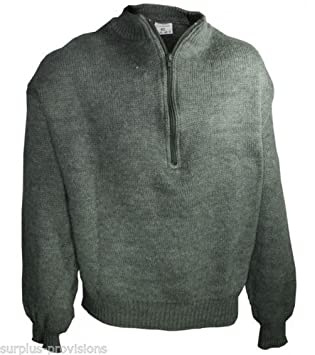 726fea7134c Onermade Brand New Swiss Army Wool Sweater Choice of Sizes Military Surplus   SL2854
